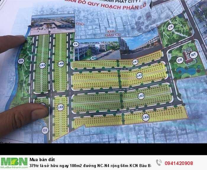 Sở hữu ngay 100m2 đường NC-N4 rộng 64m KCN Bàu Bàng