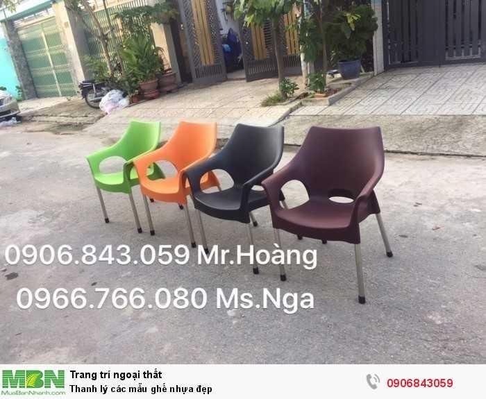 Thanh lý các mẫu ghế nhựa đẹp0