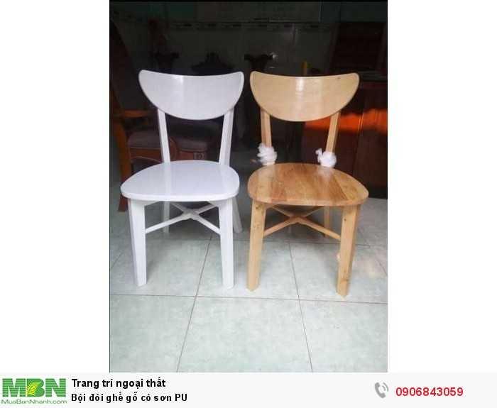 Bội đôi ghế gỗ có sơn PU 0