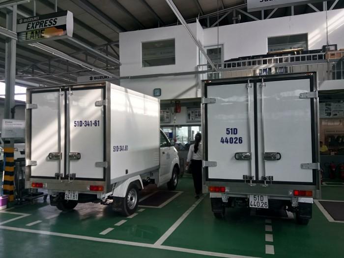 Xe tải Suzuki pro 2018 thùng đông lạnh