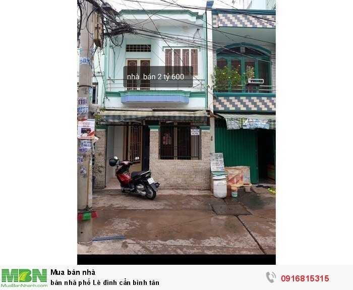 Bán Nhà Phố Lê Đình Cẩn Bình Tân