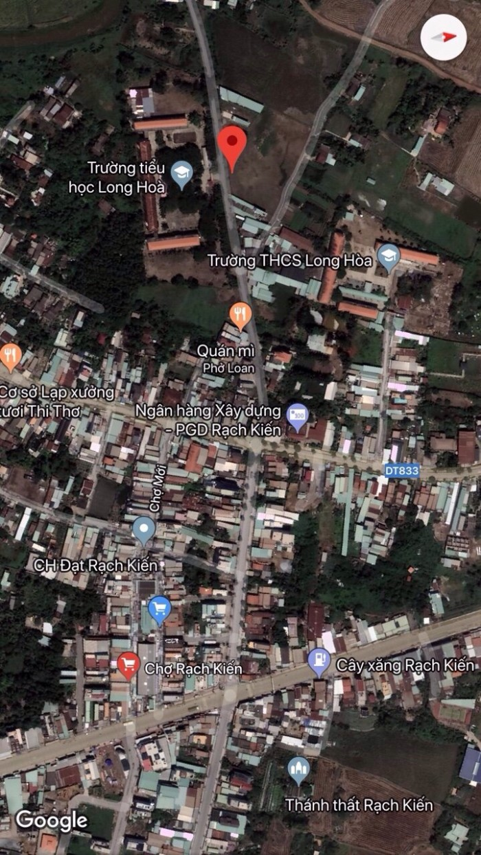 Tôi cần bán lô đất thổ cư nằm đối diện trường tiểu học Long Hòa-Rạch Kiến