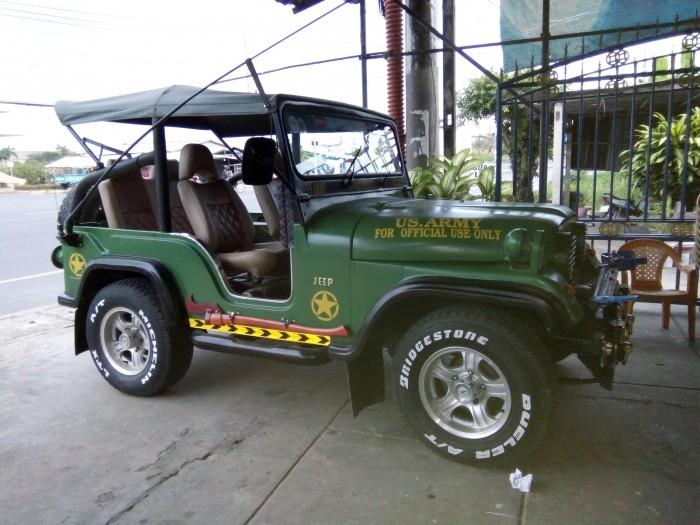 Xe Jeep cj5 thay máy toyota