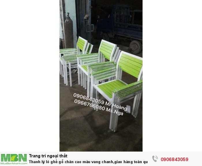 Thanh lý lô ghế gỗ chân cao màu vang chanh,giao hàng toàn quốc0