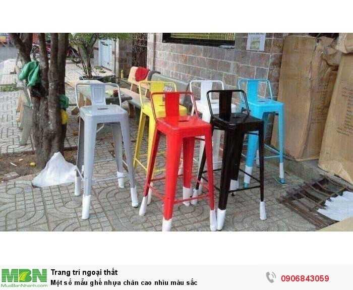 Một số mẫu ghế nhựa chân cao nhìu màu sắc0