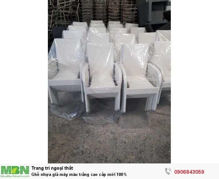 Ghế nhựa giả mây màu trắng cao cấp mới 100%0