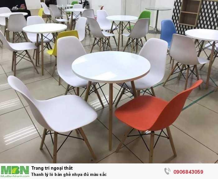 Thanh lý lô bàn ghế nhựa đủ màu sắc0