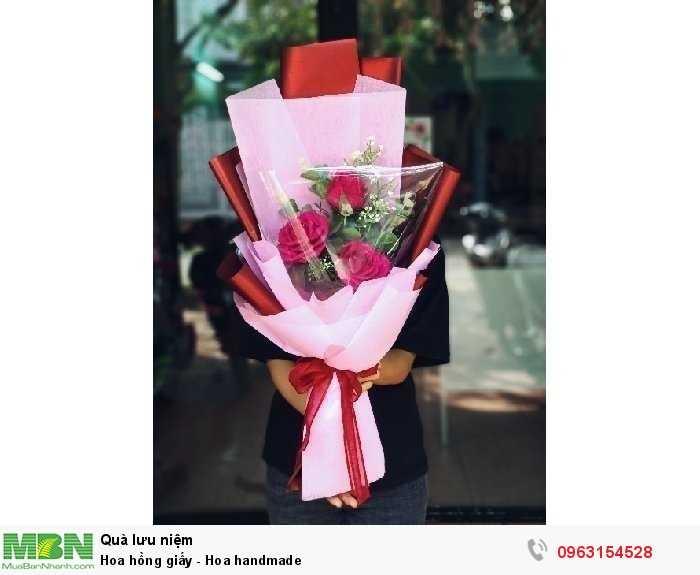 Hoa hồng giấy - Hoa handmade0
