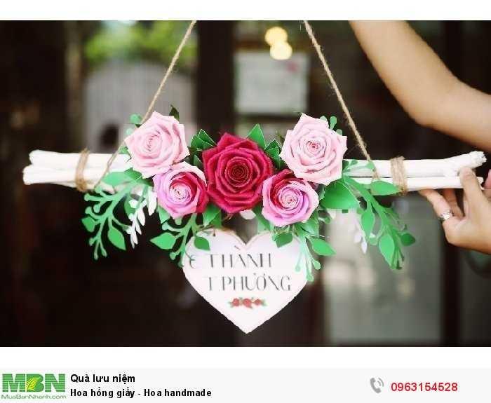 Hoa hồng giấy - Hoa handmade2