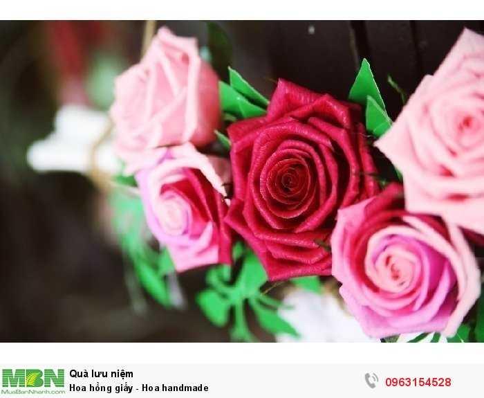Hoa hồng giấy - Hoa handmade3