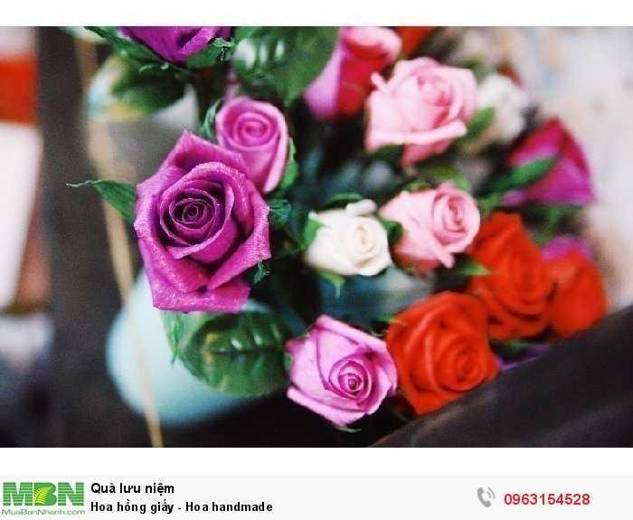 Hoa hồng giấy - Hoa handmade4