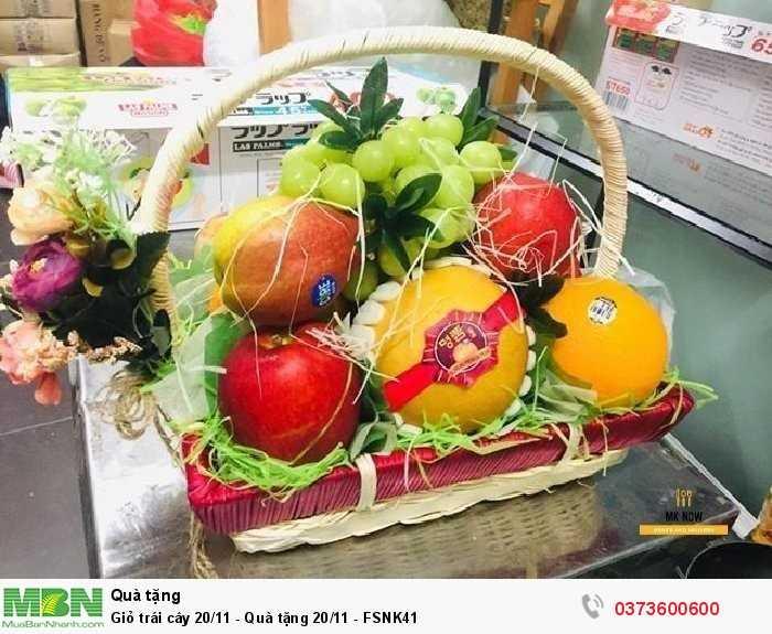 Mua Giỏ trái cây 20/11 - Quà tặng 20/11 - FSNK411