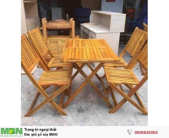 Bàn ghế gỗ xếp MB020