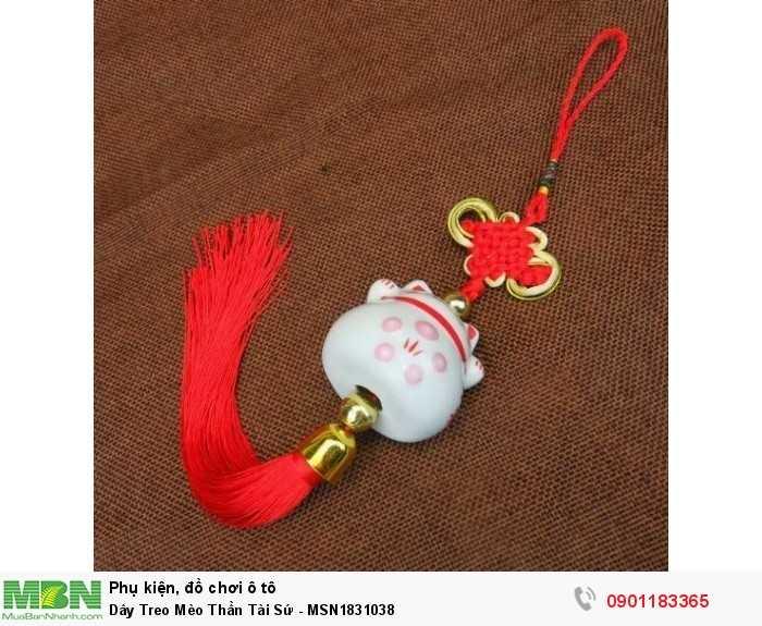 Dây Treo Mèo Thần Tài Sứ - MSN1831038 1