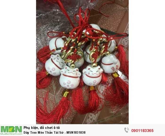 Dây Treo Mèo Thần Tài Sứ - MSN1831038 3