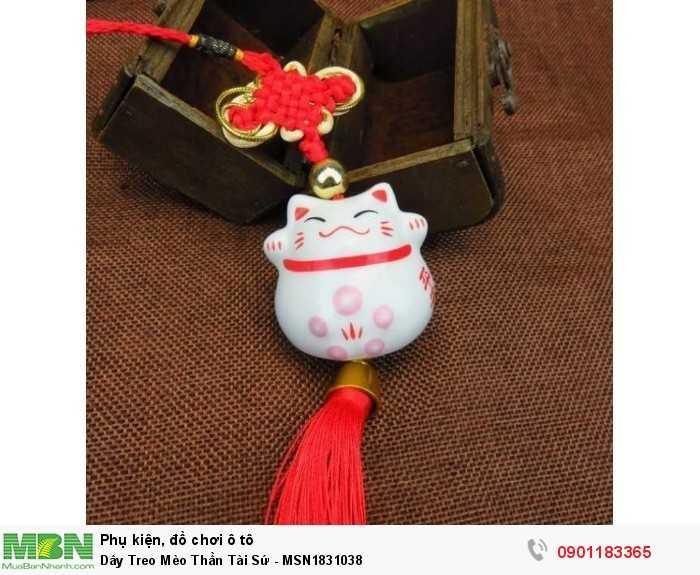 Dây Treo Mèo Thần Tài Sứ - MSN1831038 4
