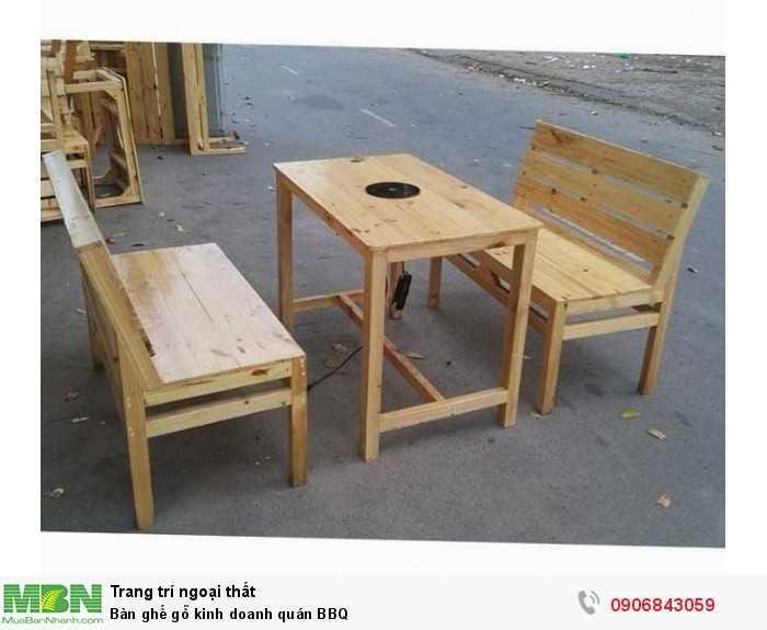 Bàn ghế gỗ kinh doanh quán BBQ0