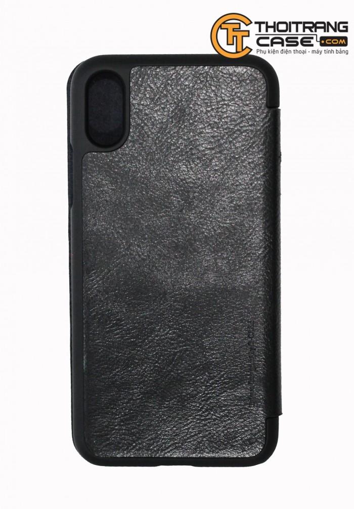 Ốp Lưng Iphone X lưng da chữ a
