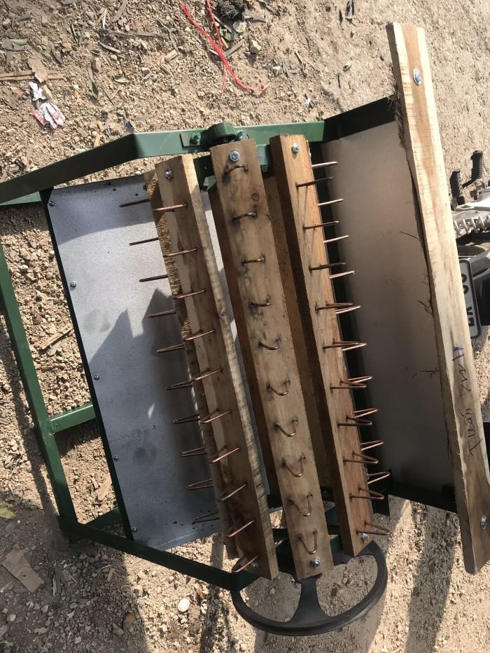 Máy tuốt lúa nếp sử dụng mô tơ Toàn Phát3