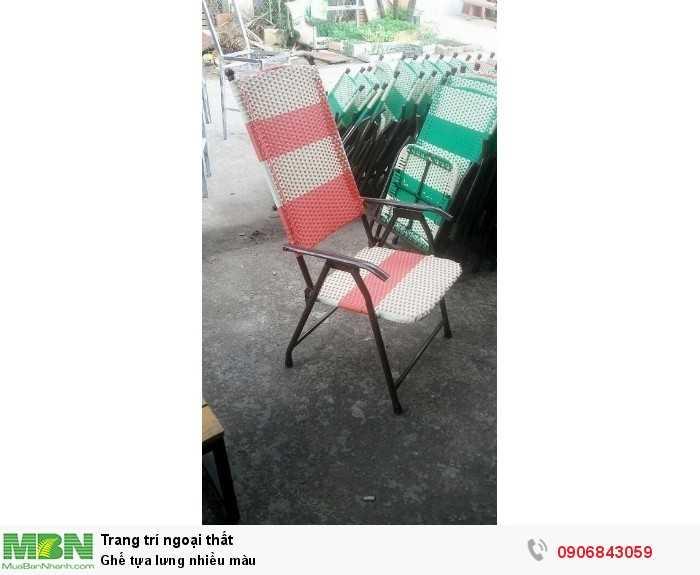Ghế tựa lưng nhiều màu0