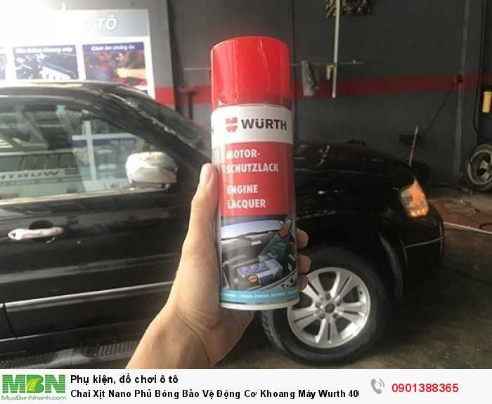 Chai Xịt Nano Phủ Bóng Bảo Vệ Động Cơ Khoang Máy Wurth 400ml 0892790 1