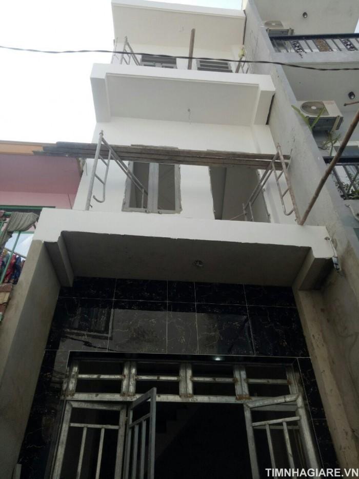 Nhà bán hẻm 2056 Huỳnh Tấn Phát, Nhà Bè, Tp.HCM. DT 3m x 8m, nở hậu, 2 lầu, 3PN