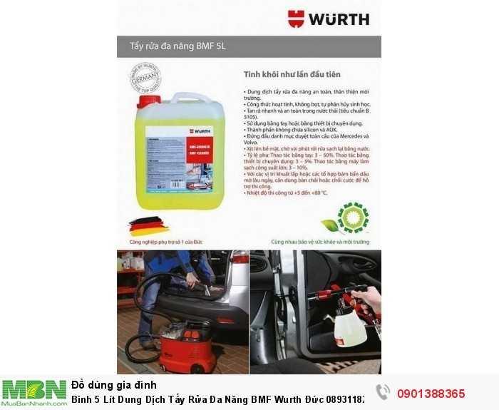 Bình 5 Lít Dung Dịch Tẩy Rửa Đa Năng BMF Wurth Đức 08931182