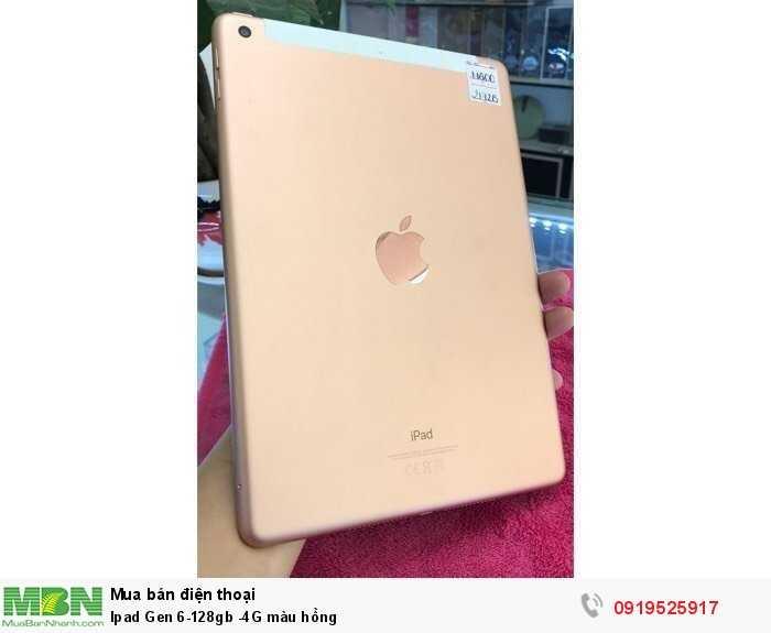Ipad Gen 6-128gb -4G màu hồng2