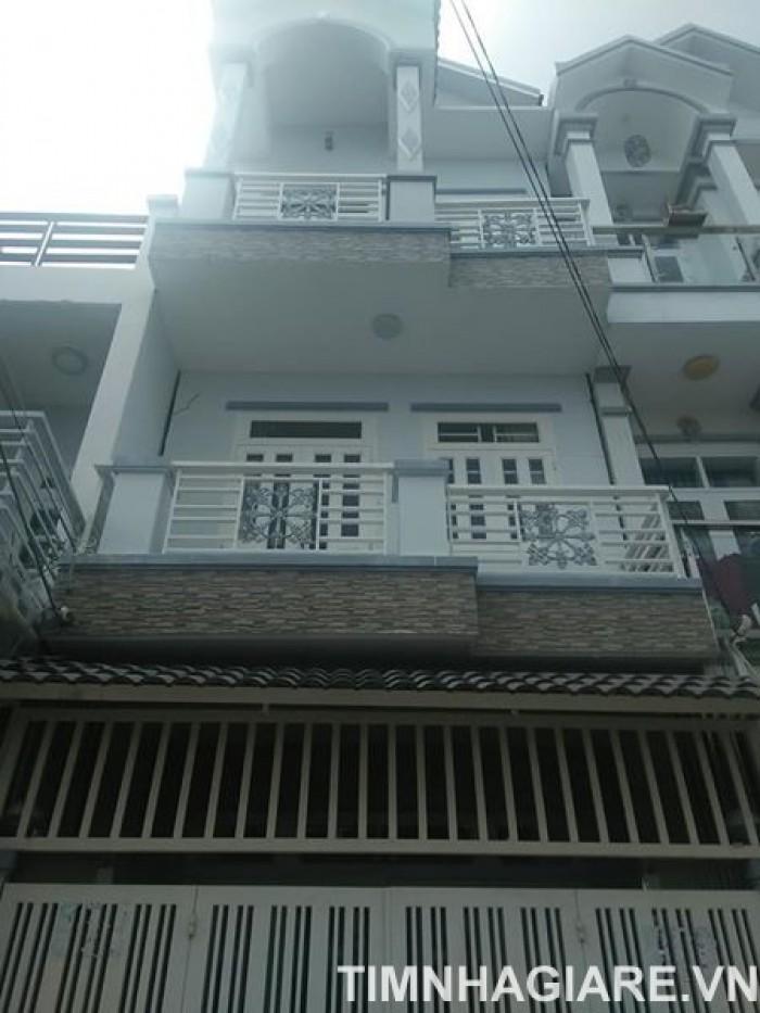 Bán nhà đường Nguyễn Bình, Thị trấn Nhà Bè, Tp.HCM. DT 3,3 x 7m, 2 lầu, tặng nội thất
