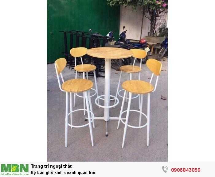Bộ bàn ghế kinh doanh quán bar0