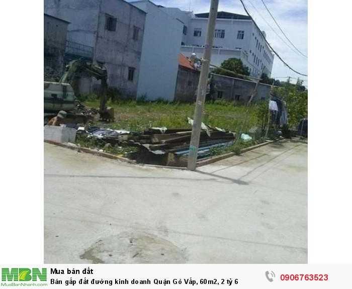 Bán gấp đất đường kinh doanh Quận Gò Vấp, 60m2