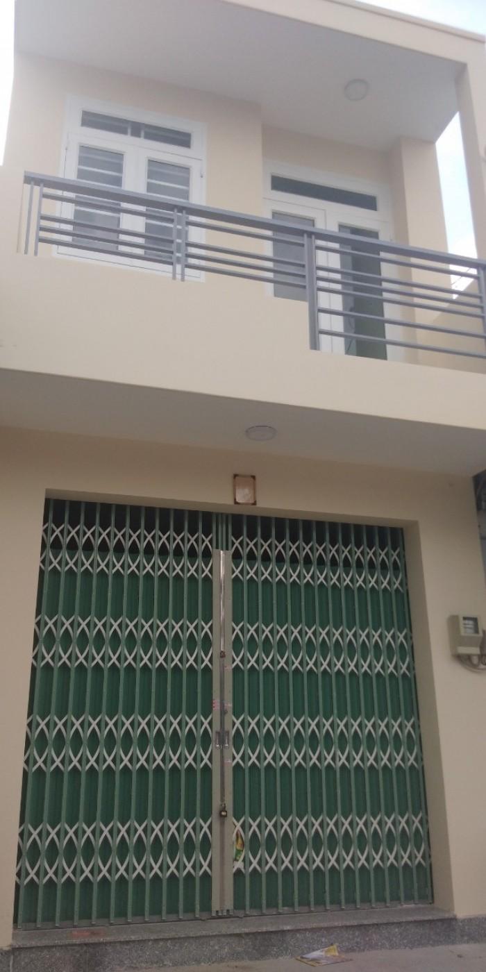 Bán nhà mới 1 trệt 1 lầu mặt tiền đường 2 tnpb q9 .