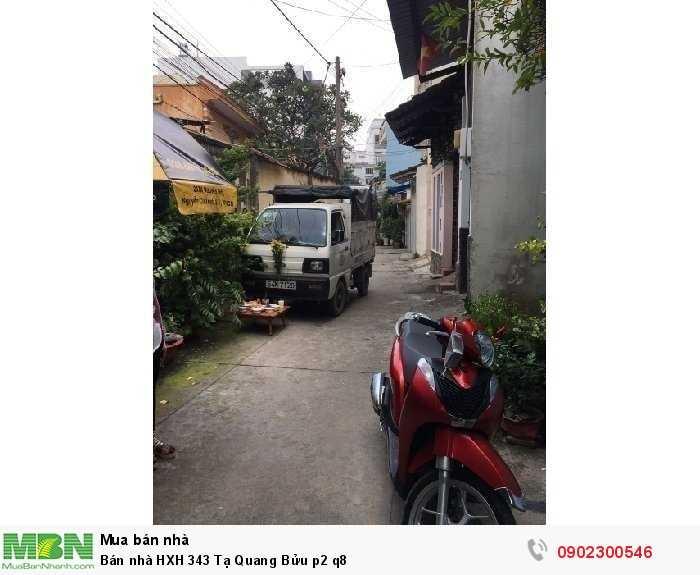 Bán nhà HXH 343 Tạ Quang Bửu p2 q8