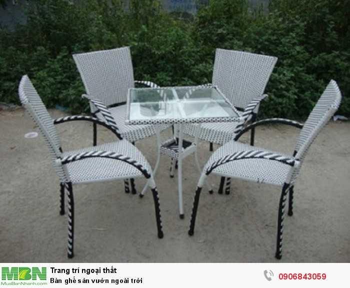 Bàn ghế sân vườn ngoài trời0