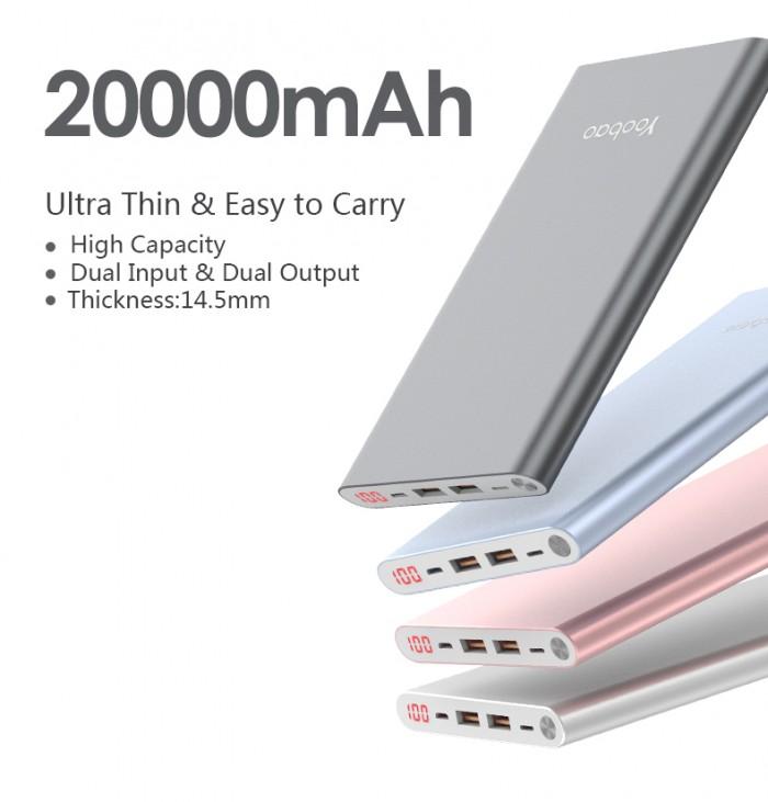 Pin Sạc Dự Phòng Yoobao A2 20000mAh siêu mỏng4