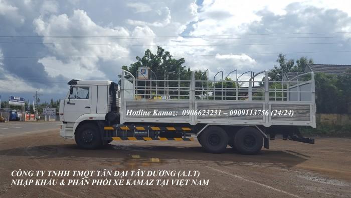 Xe tải thùng Kamaz 15 tấn, bán tải thùng Kamaz 65117 mới tại Bình dương, bán tải thùng Kamaz mới 4