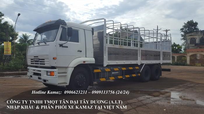 Xe tải thùng Kamaz 15 tấn, bán tải thùng Kamaz 65117 mới tại Bình dương, bán tải thùng Kamaz mới 3