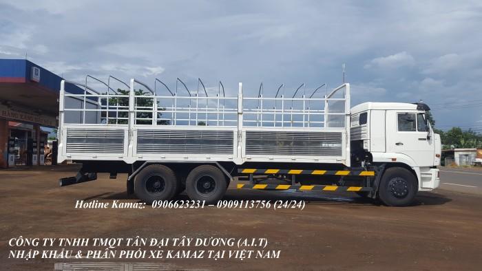 Xe tải thùng Kamaz 15 tấn, bán tải thùng Kamaz 65117 mới tại Bình dương, bán tải thùng Kamaz mới 7