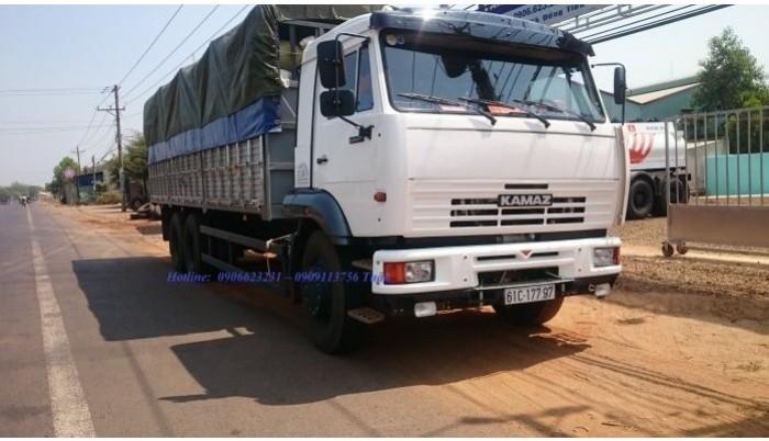 Xe tải thùng Kamaz 15 tấn, bán tải thùng Kamaz 65117 mới tại Bình dương, bán tải thùng Kamaz mới 10