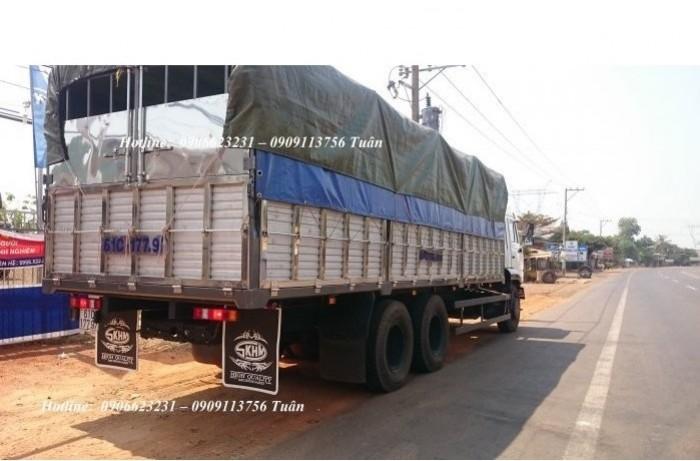 Xe tải thùng Kamaz 15 tấn, bán tải thùng Kamaz 65117 mới tại Bình dương, bán tải thùng Kamaz mới 11