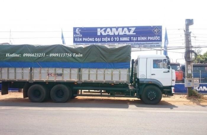 Xe tải thùng Kamaz 15 tấn, bán tải thùng Kamaz 65117 mới tại Bình dương, bán tải thùng Kamaz mới 12