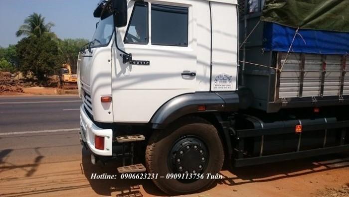 Xe tải thùng Kamaz 15 tấn, bán tải thùng Kamaz 65117 mới tại Bình dương, bán tải thùng Kamaz mới 13