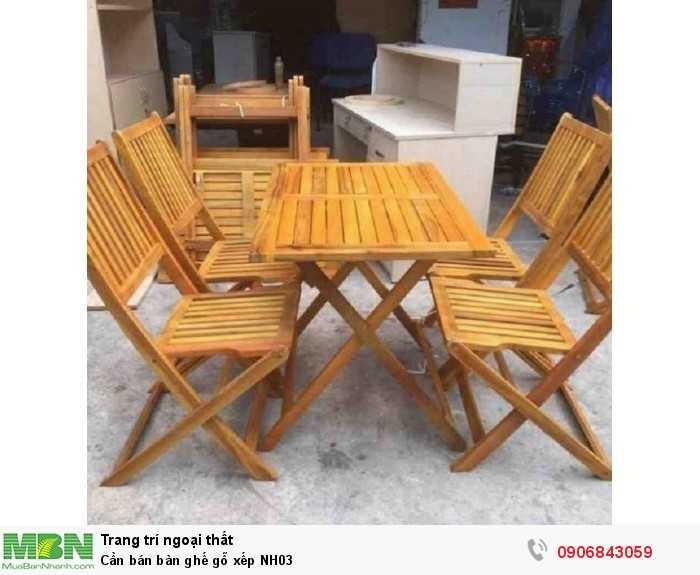 Cần bán bàn ghế gỗ xếp NH030