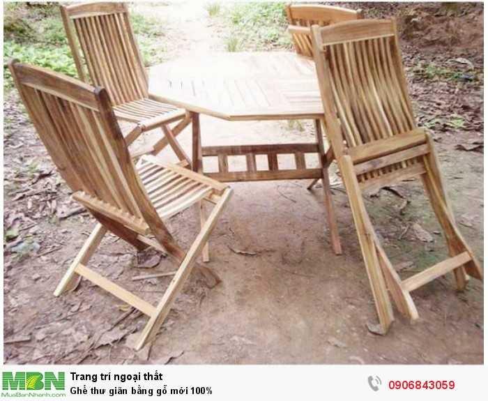 Ghế thư giãn bằng gỗ mới 100%0