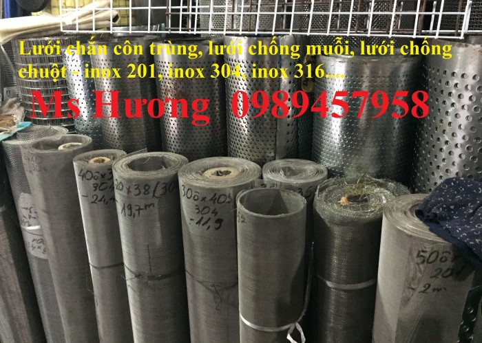 Lưới chống muỗi, lưới chắn côn trùng inox 304, Lưới inox 316 và Lưới inox 2017