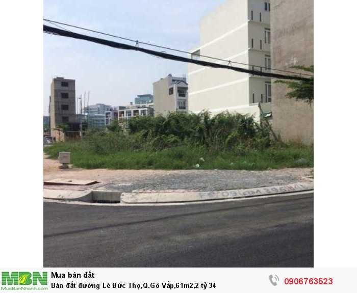 Bán đất đường Lê Đức Thọ,Q.Gò Vấp,61m2,