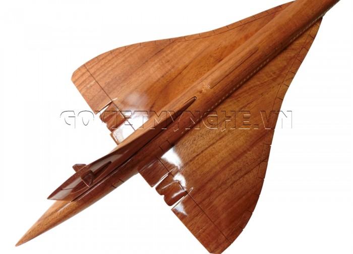 Mô Hình Máy Bay Gỗ Concorde size nhỏ: Dài 36 x Rộng 16 x Cao 13 (cm). Giá: 370.000₫