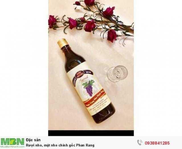 Rượu nho, mật nho chính gốc Phan Rang