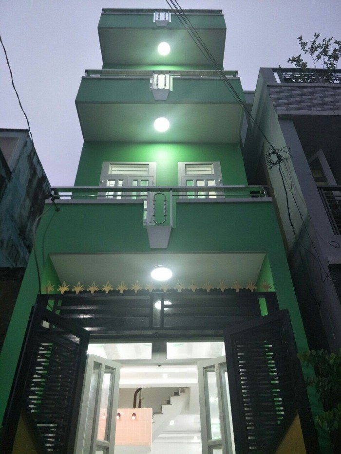 Chính chủ bán nhà 3 lầu, Bình Tiên quận 6, dt 36m2 , hẻm 4m, sổ hồng riêng