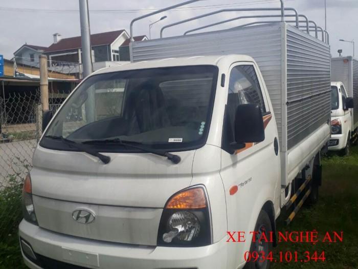 Giá xe tải Hyundai Porter H150 thùng bạt ở nghệ An. Hỗ trợ mua xe trả góp lên đến 80%